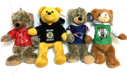 Boston Bruins Celtics Red Sox Patriots Teddy Bear Plush Furry 4 Team Lot Set