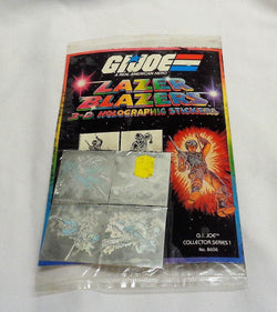 1984 GI Joe ARAH Lazer Blazers 3-D Holographic Sticker Set Sealed Sheet FREESHIP