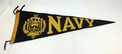 Vintage 1950s US Navy Annapolis University Pennant 11x29 Midshipmen FREESHIP