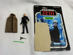 Vintage 1983 Star Wars Luke Skywalker Jedi Knight Figure Complete 65 Cardback