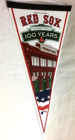 2012 Fenway Park Boston Red Sox 100th Anniversary 100 years Pennant (B) FREESHIP