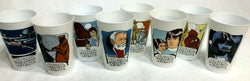 1977 Vintage Star Wars Coca Cola Promo Cup Set of 8 Limited Edition Mint FREESHP