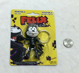 NEW Felix the Cat Tv Movie Cartoon Bendable Figure Keychain Rubber FREESHIP
