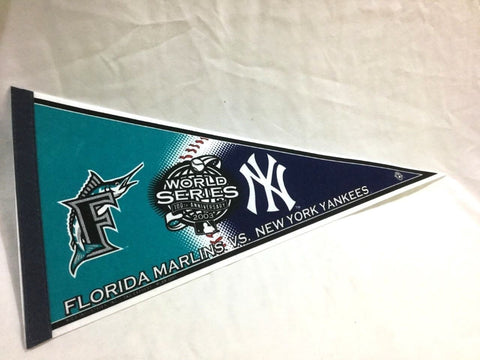 2003 World Series Duel Pennant New York Yankees Florida Marlins Miami FREESHIP
