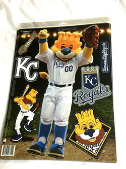Fathead 17 Inch Sticker Wall Decal Set Mascot Kansas City Royals Slugger Lion