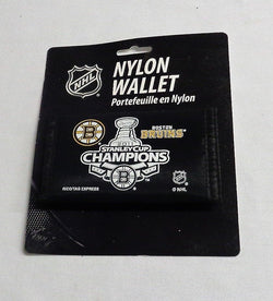 NHL Boston Bruins 2011 Stanley Cup Champions Nylon Tri Fold Wallet FREESHIP