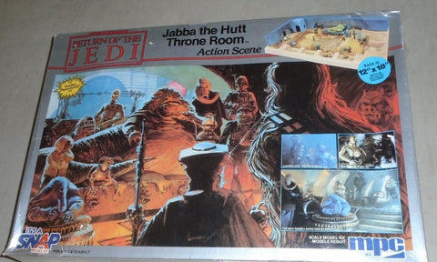 1983 Star Wars ROTJ Jabba The Hutt Throne Room Action Scene MPC Model Kit