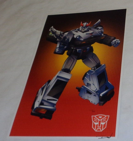 G1 Transformers Autobot Prowl Poster 11x17 Box Art Grid FREESHIPPING