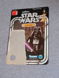 1977 1978 Star Wars Darth Vader Figure 12 Back Cardback Card Vintage FREESHIP