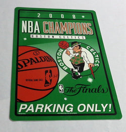 Boston Celtics 2008 World Series Champions Plastic Parking Sign 12x18 FREESHIP
