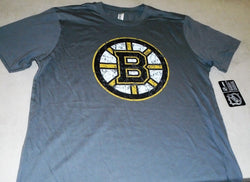 Boston Bruins Distressed Faded Grey Organic T Shirt Size Mens XXLarge FREESHIP