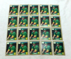 1987 Topps Baseball Jose Canseco Rookie Rc Card #620 Mint 20 Piece Lot FREESHIP