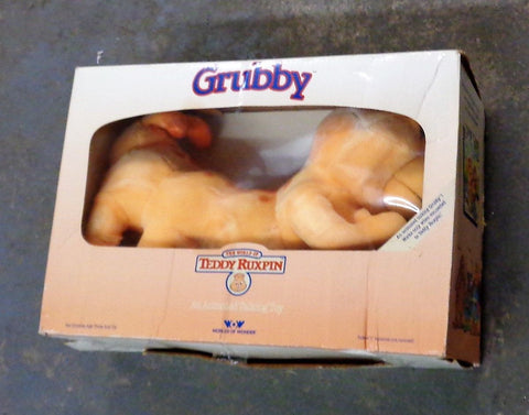 Vintage 1985 Original Teddy Ruxpin Friend Grubby Plush Boxed FREESHIP