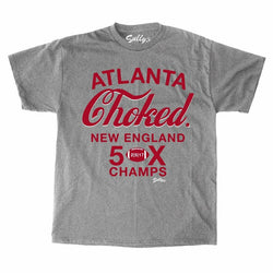 Atlanta Choked SuperBowl Patriots 5x Champions T Shirt Grey Mens Medium FREESHP