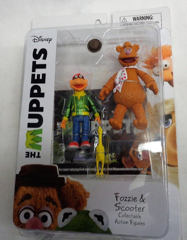 Diamond Select Disney The Muppets Fozzie the Bear and Scooter Figure MOC Sealed