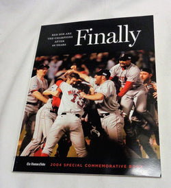 Red Sox 2004 World Series Champions Boston Globe Finally Magazine Book FREESHIP