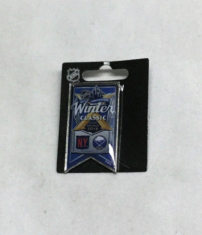 2018 Winter Classic Duel Logo Banner Pin New York Rangers Buffalo Sabres FREESHP