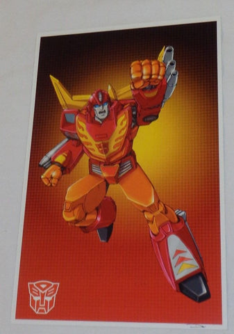 G1 Transformers Autobot Hot Rod Poster 11x17 Box Art Grid FREESHIPPING