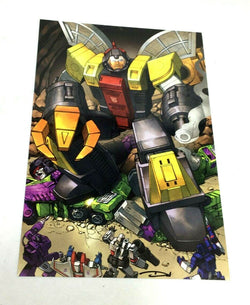 G1 Transformers Autobot Omega Supreme vs Devastator Fight Picture Poster 11x17