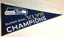 2014 Superbowl 48 World Champions Seattle Seahawks Pennant (B1) FREESHIP