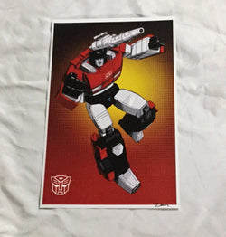 G1 Transformers Autobot Sideswipe Poster 11x17 Box Art Grid FREESHIPPING