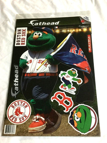 Fathead 17 Inch Sticker Wall Decal Set Wally Green Monster Mascot Red Sox