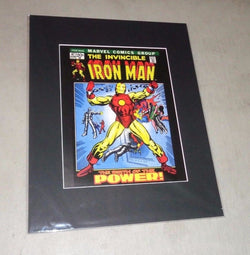 1972 Marvel Comics The Invincible Iron Man #7 Matted Picture Poster 16x20 FREESP