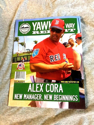 April 2018 Yawkey Way Report Red Sox Program Magazine Cora Cover Opening Day