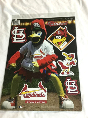 Fathead 17 Inch Sticker Wall Decal Set Fredbird Mascot St Louis Cardinals