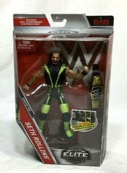 Mattel WWE Elite Collection Series 52 Seth Rollings Figure w/ Belt Sealed Boxed