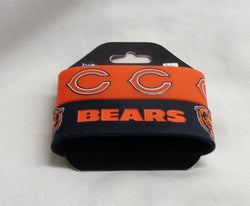 NFL Chicago Bears 2 Pack Bracelet Wrist Bands Set Rubber PVC Type FREESHIP