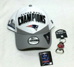 New England Patriots New Era Super Bowl 53 Champions Hat Cap Keychain Pin Lot
