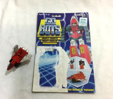 1983 Tonka Gobots Fitor Enemy Robot Space Fighter Cardback Complete FREESHP