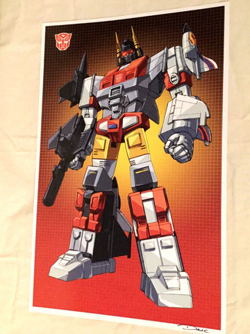 G1 Transformers Autobot Aerialbots Superion Poster 11x17 Box Grid Art FREESHIP