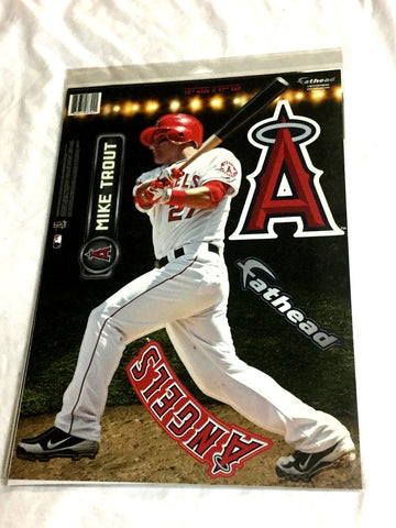 Fathead 17 Inch Sticker Wall Decal Set Mike Trout Los Angeles Angels FREESHIP