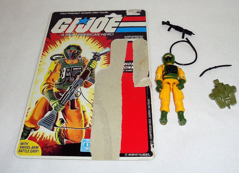 1985 Hasbro GI Joe ARAH Airtight Figure Cardback Complete Peach Filecard FREESHP