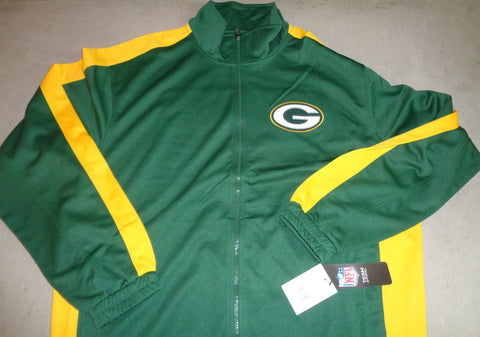 NFL Green Bay Packers Zip Up Polyester Warm Up Track Jacket Size XLarge FREESHIP
