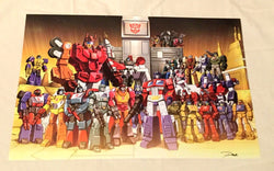 G1 Transformers Autobots 1987 Headmasters Targetmasters 11x17 Poster Picture