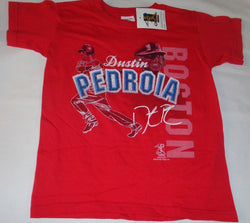 NEW Tags Boston Red Sox Dustin Pedroia T Shirt Childrens Kids Size Large 10/12
