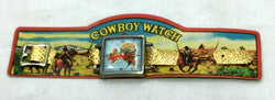 1960s Vintage Cowboy Watch Boys Childrens Toys Carded Japan Novelty (SQ) FREESHP