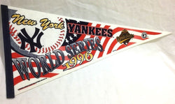 1996 World Series New York Yankees Pennant FREESHIP Jeter 1st Appearance RARE