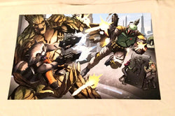 Star Wars vs Guardians of the Galaxy Boba Fett Groot Poster Picture 11x17