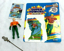 1984 DC Comics Kenner Super Powers Aquaman Figure Complete Trident & Cardback