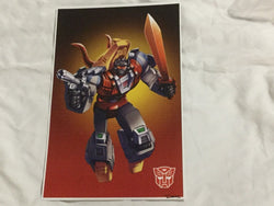 G1 Transformers Autobot Dinobot Slag Poster 11x17 Box Art Grid FREESHIPPING
