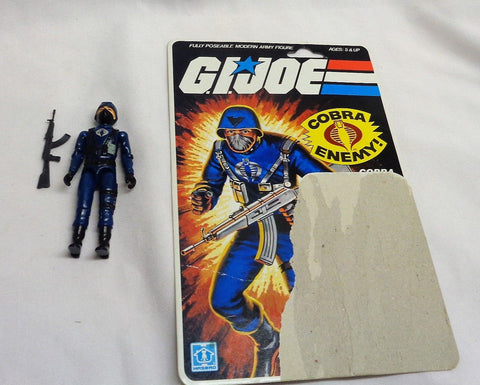 1982 Hasbro GI Joe ARAH Cobra Officer Straight Arm Figure 11 Cardback Complete