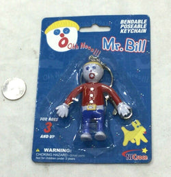 NEW Mr Bill Tv Cartoon SNL Saturday Nite Live Bendable Figure Keychain FREESHIP