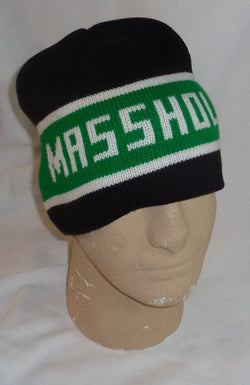 Boston Masshole Winter Knit Cap Hat Beanie Type Black Green Cuff Less FREESHIP