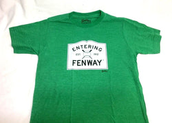 Boston Kenmore Entering Fenway Street Sign T Shirt Size Medium Red Sox Green