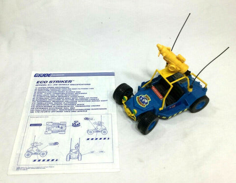 1992 Hasbro GI Joe ARAH Eco Striker Jeep Complete Blueprints Mint FREESHIP