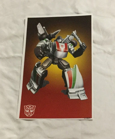 G1 Transformers Autobot Wheeljack Poster 11x17 Box Art Grid FREESHIPPING